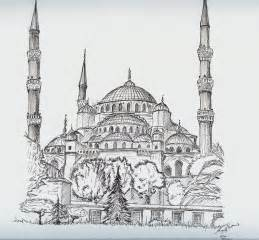 Mosque Drawing by Blue Mosque By Mind Bomb On Deviantart
