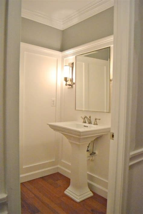 bathroom molding ideas grey paint color transitional bathroom ralph lauren