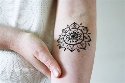 temporary tattoo mandala temporary temporary tattoos by tattoorary