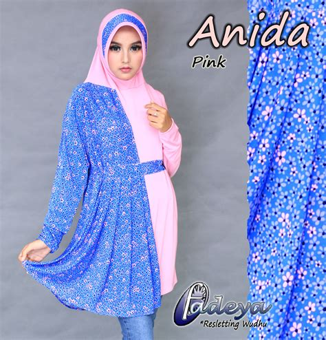 Anida Jilbab Bergo Lengan Tangan Bahan Jersey Adem jilbab anida tunik by fadeya jilbabbranded biz jual jilbab branded original