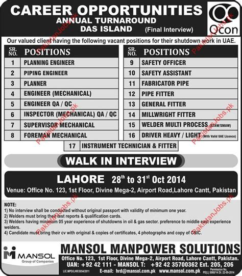 mansol manpower solutions required staff for uae 2018