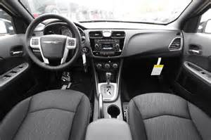 black 2014 chrysler 200 touring interior dashboard
