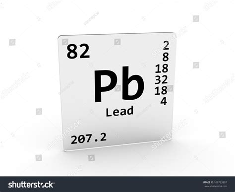 Pb Element Periodic Table by Lead Symbol Pb Element Periodic Table Stock Illustration