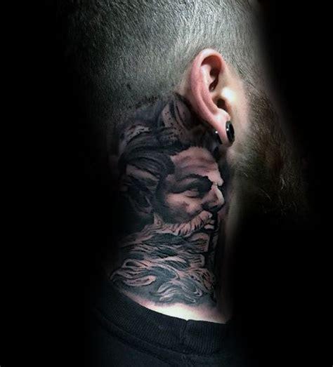 neck tattoo hide side of neck greek god cover up tattoos for men tattoo