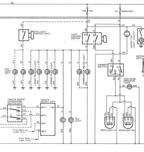 hzj75 headlight wiring diagram wiring diagram with