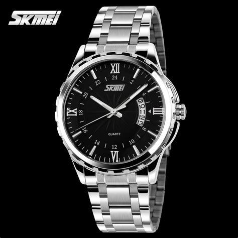 Skmei 1032 Jam Tangan Pria Stainless Waterproof Fashion aliexpress buy top fashion quartz skmei stainless steel watches luxury brand 3tm