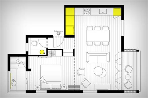 Floor Plans For A Small House smart modern renovation transforms small urban apartment