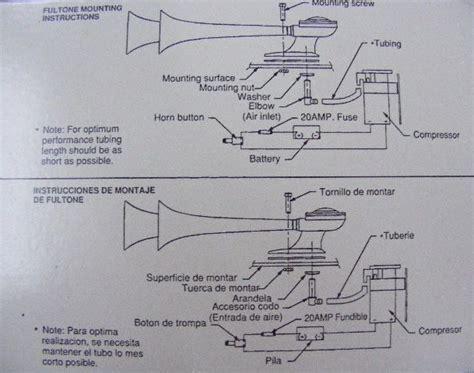 boat horn installation fiamm tornado boat horns 15 17 with air compressor kit
