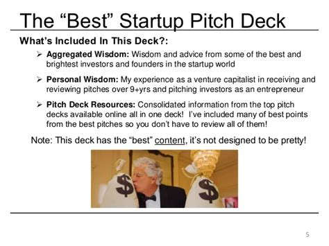 best startup the best startup investor pitch deck how to present to