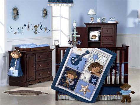 Baby Boy Bedroom Accessories Baby Nursery Decor Of Wooden Furniture Oak Material Themes For Baby Boy Nursery Blue Soft