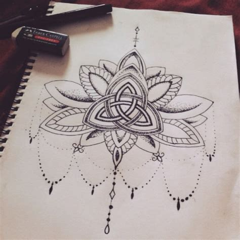 lotus knot tattoo lotus sternum tattoo tumblr