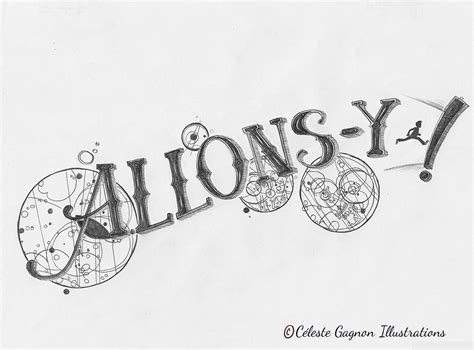 allons y tattoo allons y c 233 leste gagnon illustrations