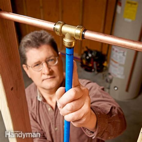 Plumbing Pipe Connections by Plumbing With Pex Tubing The Family Handyman