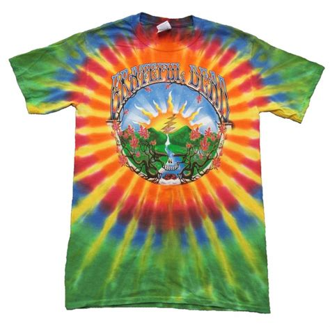 grateful dead waterfall shirt tie dye
