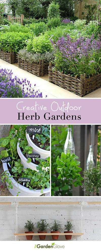 outdoor herb garden ideas creative outdoor herb gardens the garden glove