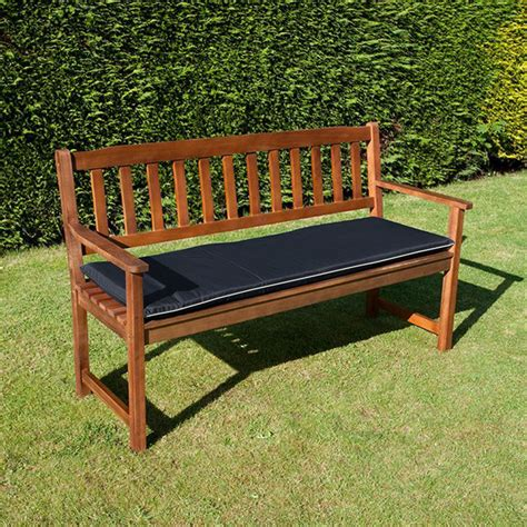 outdoor bench seat cushions online 3 seat garden bench cushion black or taupe free delivery