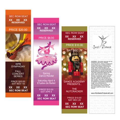 in color dc tickets design it yourself color vertical tix rsvd