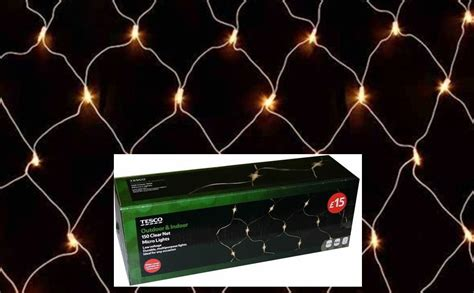 150 low voltage micro net lights christmas tree wall