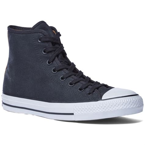 converse ctas pro canvas rubber infused high top shoes