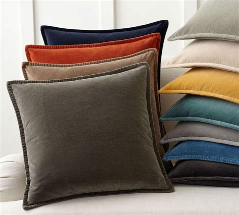 Pillow Cushion Covers by Washed Velvet Cushion Cover Pottery Barn Au