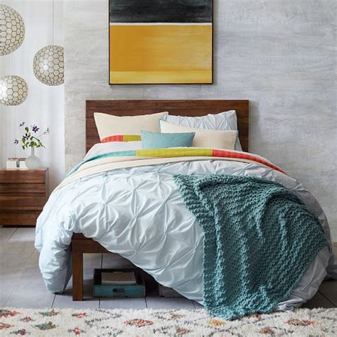 West Elm Comforter Covers by Organic Cotton Pintuck Duvet Cover Shams West Elm