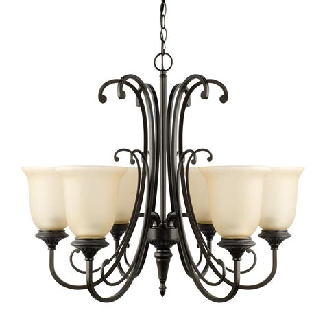 Bronze Chandelier With Shades Globe Electric Shae 5 Light Vintage Edison Rubbed Bronze Chandelier With Clear Glass Shade