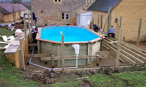 how to build a backyard pool wooden pool installation build assembly service