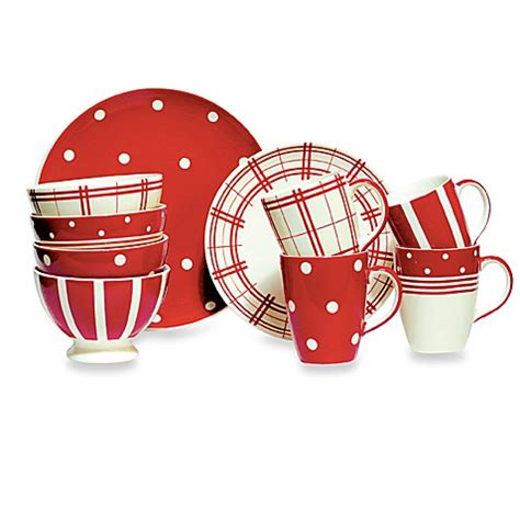 bed bath and beyond plates kitchen red 11 inch dinner plate set of 4 bed bath