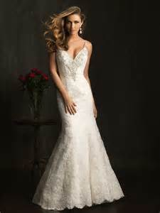 fitted wedding dresses slim fitted mermaid spaghetti straps v neck lace beaded wedding dress backless
