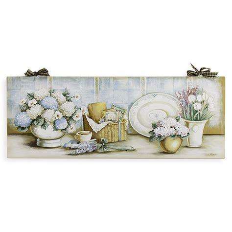 fiori provenzali quadro provenzale ortensie cm 80x30 artenuovaforma