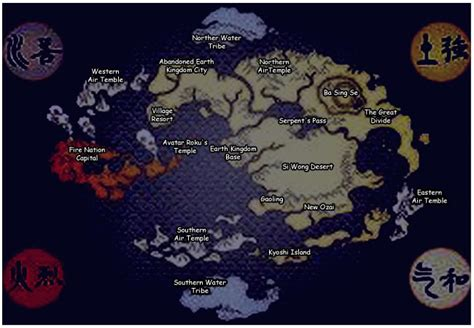 Avatar The Last Airbender Map Photo By Tiamwow Photobucket