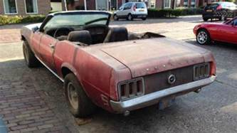 a 1970 awd ford mustang convertible is the
