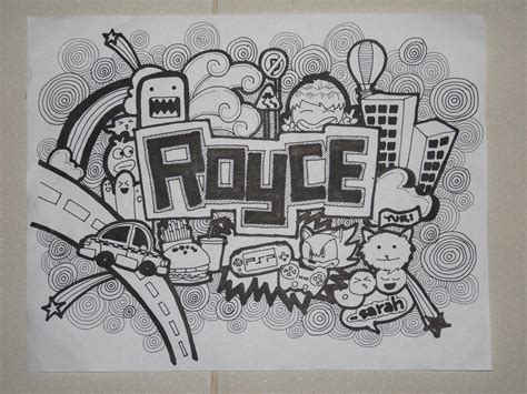 how to draw a doodle names doodle royce by sarahrejinah on deviantart