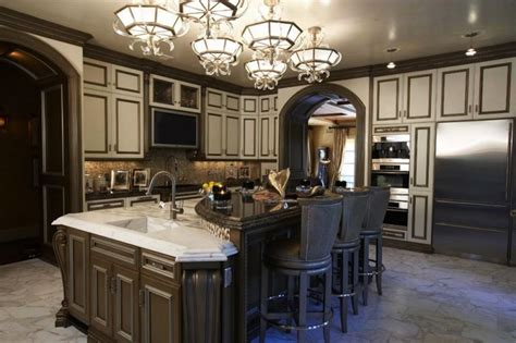 Dark Stained Kitchen Cabinets by Traditional Kitchens Gluzzer Designs