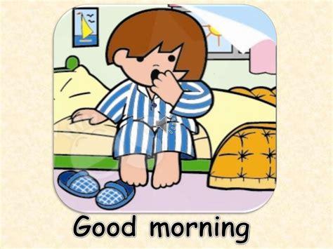 imagenes de niños diciendo good morning los saludos y presentaci 211 n personal en ingles