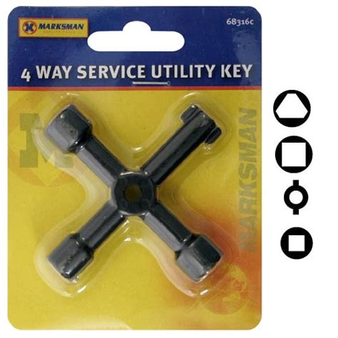Gas Cabinet Key by Brand New Metal 4 Way Service Utility Key For Gas Electric
