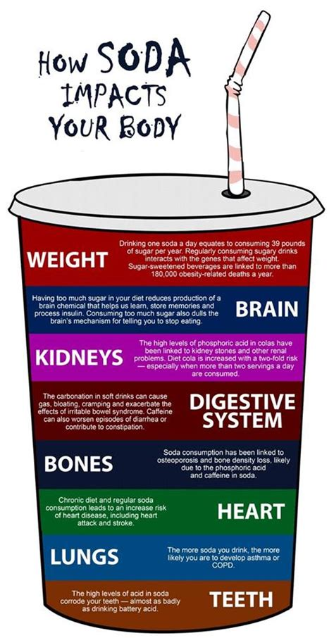 how soda impacts your daily infographic