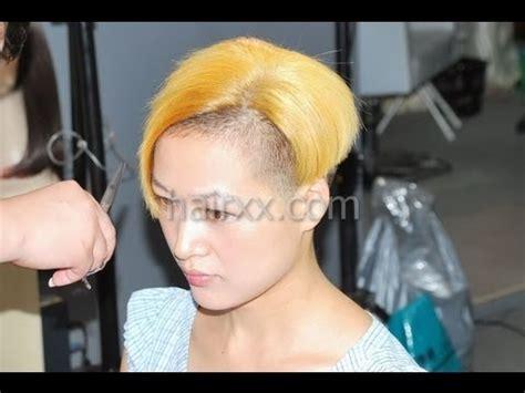 return of the bowl haircut daily makeover hairxx 009 long to undercut bob bowl short blonde haircut