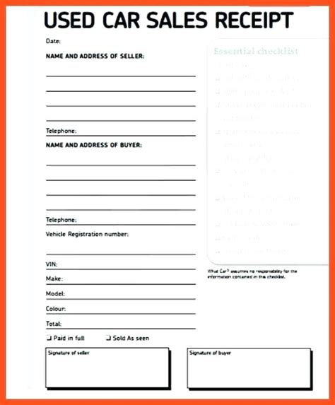 used motorcycle sales receipt template receipt for sale of used car kinoroom club