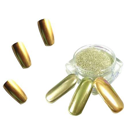 Gold Mirror Chrome Powder Nail Kuku Chrome Metal Korea Nail new 1g mirror powder gold silver pigment nail glitter nail