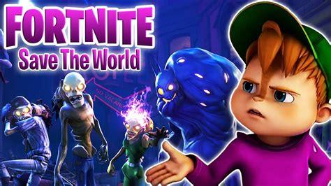 chipmunk saves  world  fortnite alvin plays