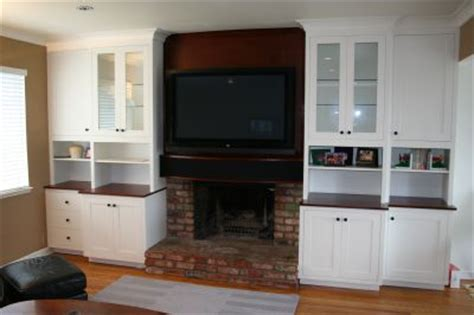 Fireplace Cabinet Ideas by Custom Tv Cabinets