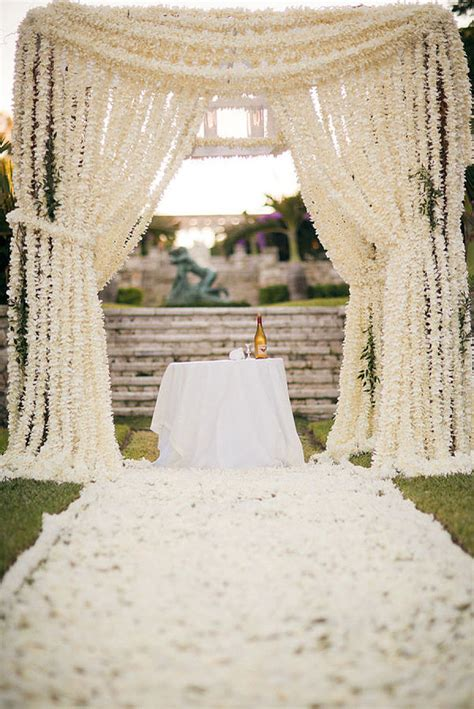 Outdoor Wedding Ceremony Decorations by Unique Wedding Altar Ideas And Pictures Popsugar Home