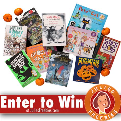Book Vip Sweepstakes - halloween book sweepstakes julie s freebies