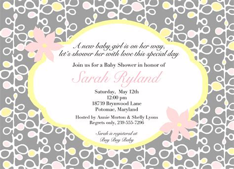 baby shower messages for invitations wording for baby shower invitations asking for gift cards