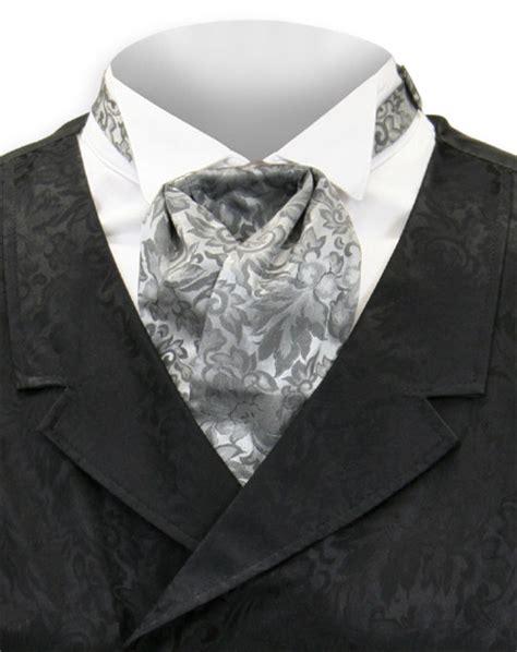 silk puff tie gray