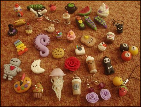 polymer clay charms for sale images