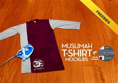 mockup design baju mockup t shirt muslimah psd zestladesign v3