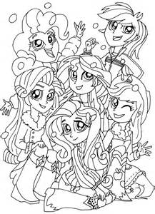 free printable my pony coloring pages january 2016