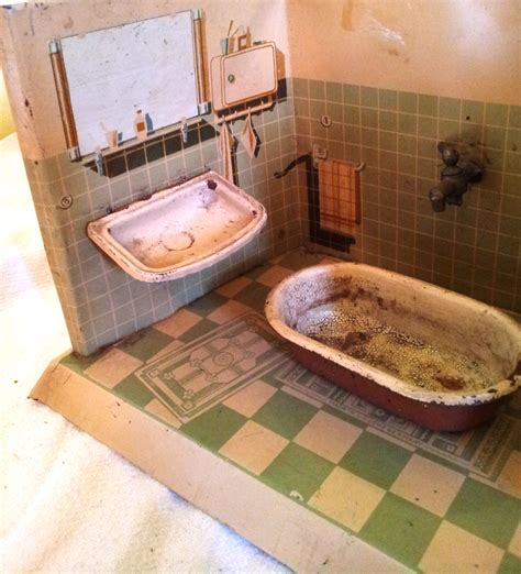 the bathroom in german rare german goso tin plate dolls house bathroom severn